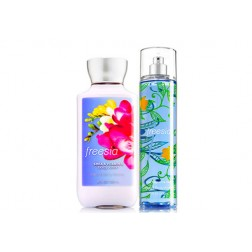Body & Bath Works - Freesia Body Lotion and Body Mist Gift Pack